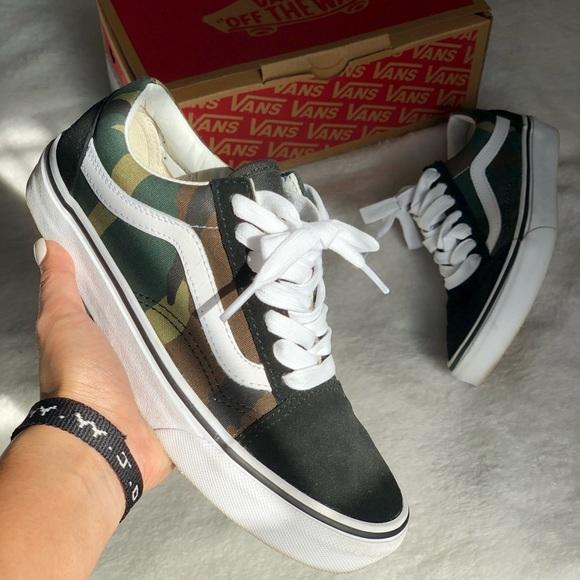 Vans Shoes | Camo Old Skool Vans | Poshmark